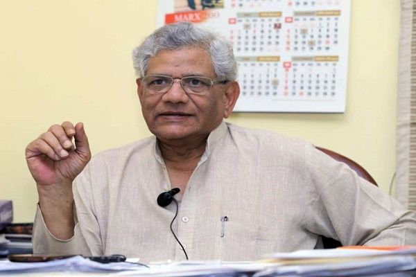 Yechury accuses government, Kashmiris are imprisoned in their own homes