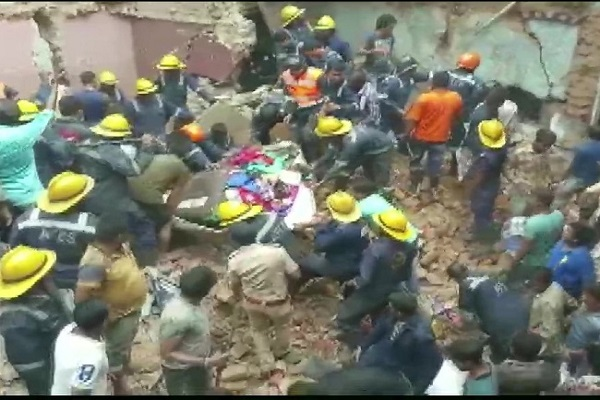 3-storey building collapses in Ahmedabad